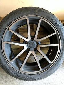 "20"" Rotiform SPF in Black and DDT 5x114.3 wheels Yokohama tires"