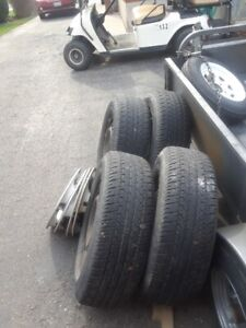 selling four Firestone tires on rims in great condition