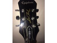 Epiphone Les Paul model Goth SG and Acoustic solutions je-20 amp