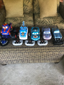 DISNEY CARS - 5 x Remote Control Cars