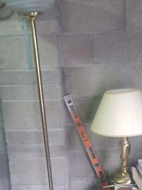 Brass uplight floor standing lamp