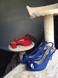 2 pairs of heels 5.5 U.K.