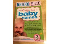 Complete book of baby names book
