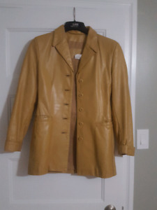 Vintage Leather Ranch ladies coat
