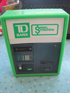 Vintage TD Bank Green Machine Coin Organizer Piggy Bank