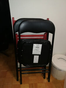 Folding chairs Black and Red