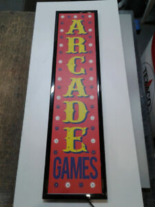 LIGHT UP ARCADE SIGN FOR THE GAMES ROOM