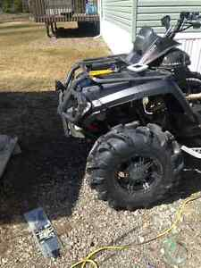 """28"""" mega mayhems with factory 12"""" can am rims"""