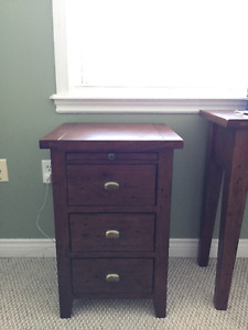 Solid wood nightstand and vanity table