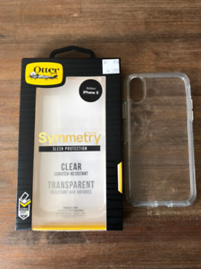 IPhone X case Otter Box Clear Brand New Étui neuf