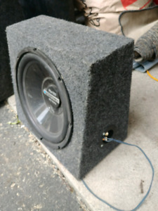 "12"" blaupunkt sub, and 15"" kicker sub"