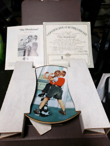 "Norman Rockwell ""The Muscle Man"" plate"