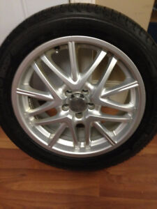 17 inch alunimun rims with almost new winter  tires