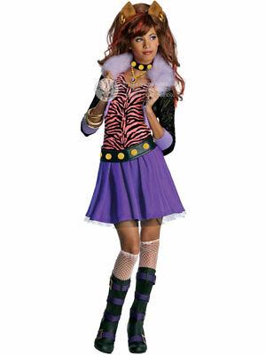 Child Licensed Monster High Clawdeen Wolf Fancy Dress Costume Halloween Girls BN ()