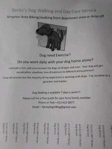 Dog walking and Day care services