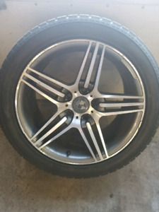 Mags + Winter tires 245/45R18, 5x112