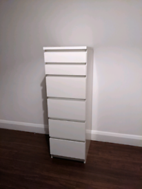 IKEA MALM white 6 drawers