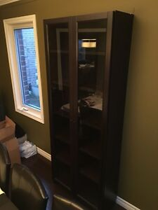 Cabinet/bookcase with glass doors