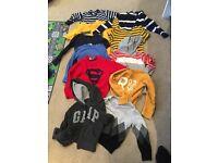 Bundle of boys jumpers & tops