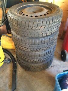 "4 17"" Blizzak tires"