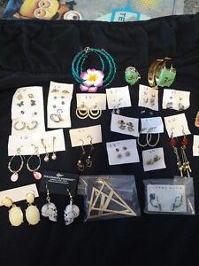 Earings, watches, bracelets, rings,