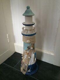 Lighthouse bathroom ornament