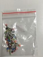 16g Mixed steal Uv plastic cone curved barbell