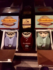 Early 90's Danelectro Guitar Pedals, Delay, Chorus, Overdrive