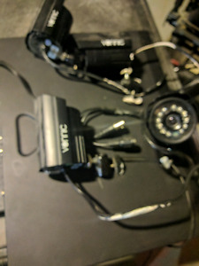 Complete Security System - 4 cameras, dvr, adapter, used