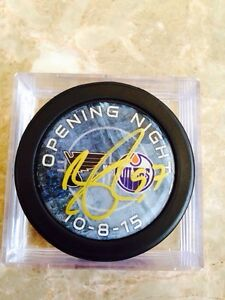 Oilers signed hockey pucks  Strathcona County Edmonton Area image 5