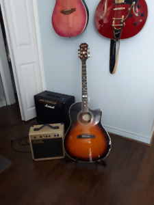 Acoustic/Electric Guitar with Amp