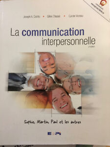 Manuel La communication interpersonnelle, 2e édition.