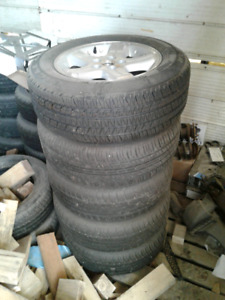 225/60R16 rims and tires with spare