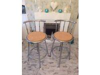 Pair of breakfast/bar stools