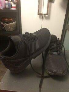 Adidas running shoes all black