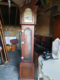 Tempus Fugit Mahogany Grandfather Clock
