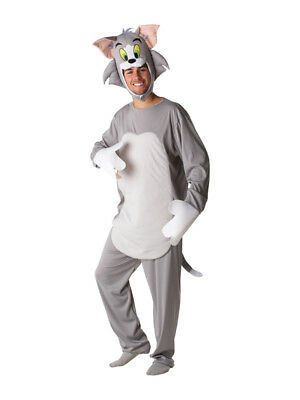 Adult Tom And Jerry Tom Cat Fancy Dress Costume Cartoon Mens Gents Male BN - Adult Cartoon Cat