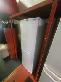 Tall Hotpoint fridge freezer £150-3 months warranty fully reconditione