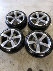"""5x112 wheels audi and vw 18"""" mags and tires"""