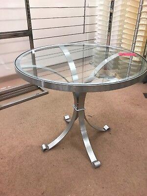 Osvaldo BORSANI Vtg Mid Century Modern Aluminum Dining Table Stow Davis Italy