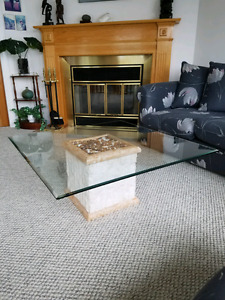 Wonderful Square Glass Top Coffee Table