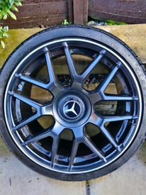 "Alloy wheels AMG replicas 19"" with tyres 5x112"