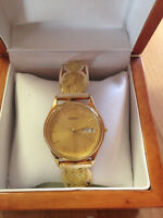 MENS GOLD NUGGET WATCH 55 GRAMS GOLD