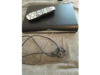 Sky hd+ box used with remote and lead