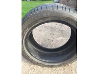 Bridgestone run flat tyre 245 X 45 X 17
