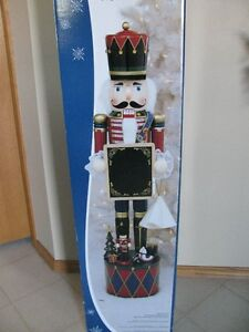 "42"" tall Christmas Nutcracker with Chalkboard"