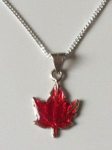 Brand new Sterling Silver Maple Leaf necklace