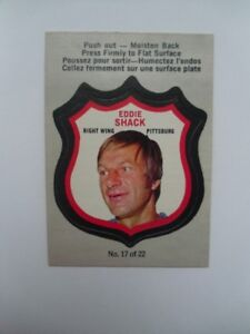 1972-73-O Pee Chee-Eddie Shack-Player Crest Hockey Card.