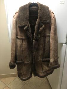 Brown Men's leather coat