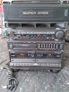 York Super Bass Cassette and Radio Unit with built in speakers